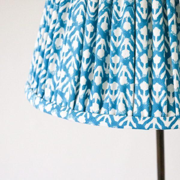 shenouk, lampshades, indian textiles, home decor, online shopping block print, screen print lampshades, handmade lampshades, luxury lampshades, English lampshades