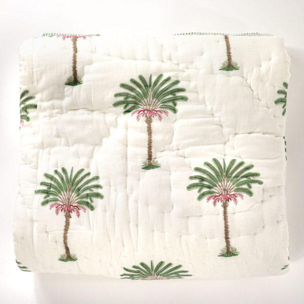shenouk, bed quilts, block print quilts, online shopping quilts, online shopping block print, Indian block print, English block print, luxury quilts, luxury bedding, handmade quilts, English interiors, country home furnishings, palm tree quilt, indian textiles, indian block print, English block print, bedding inspiration, block print bedding