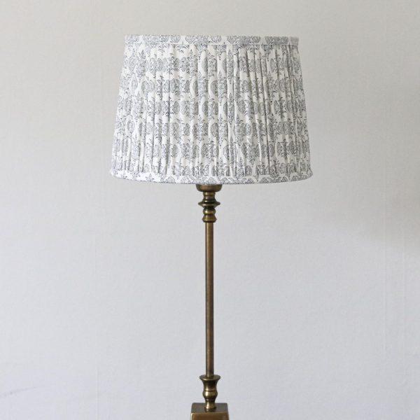 block print lampshade, block print light, luxury lighting, handmade lampshade, artisanal lampshade, shenouk, indian block print, uk block print, shopping block print, online block print