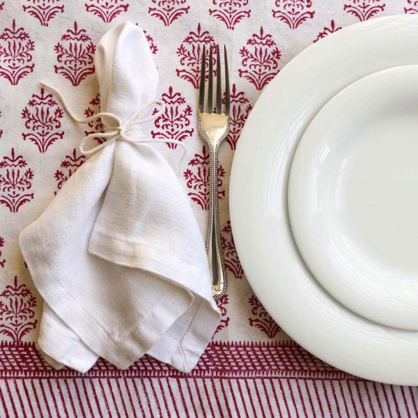 block print fabric, Indian block print, shenouk, luxury table linen, luxury tablecloths, block print tablecloths, block print table linen, online shopping block print, pink block print, pink tablecloth