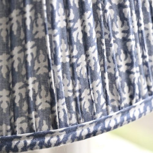 block print lampshades, block print flat lampshades, luxury lighting, luxury lampshades, online lampshades, online block print