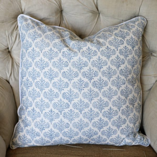 block print, shenouk, block print cushions, indian block print, English block print, cushion covers, Astrid