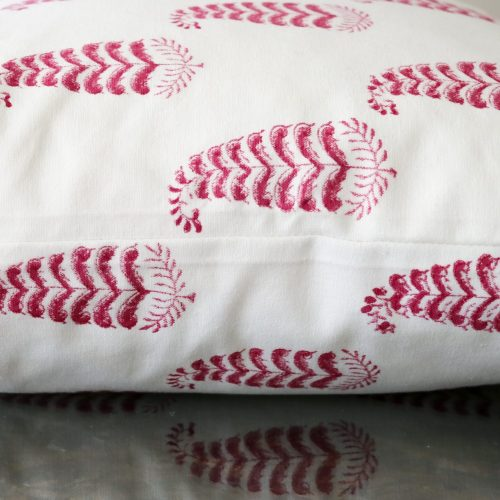 Ling Cushion Cover, pink cushion cover, block print cushion covers, cushion covers, indian block print, shenouk