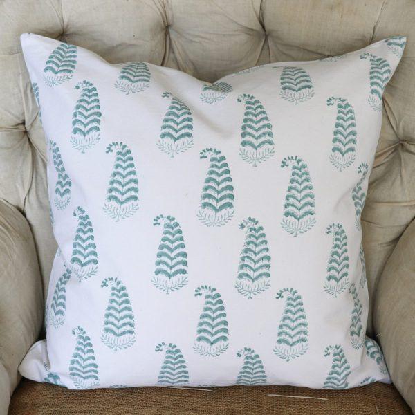 Ling Cushion Cover, green cushion cover, block print cushion covers, cushion covers, indian block print, shenouk