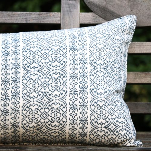 shenouk, long cushions, cushion, block print, Indian block print, English block print, online shopping block print