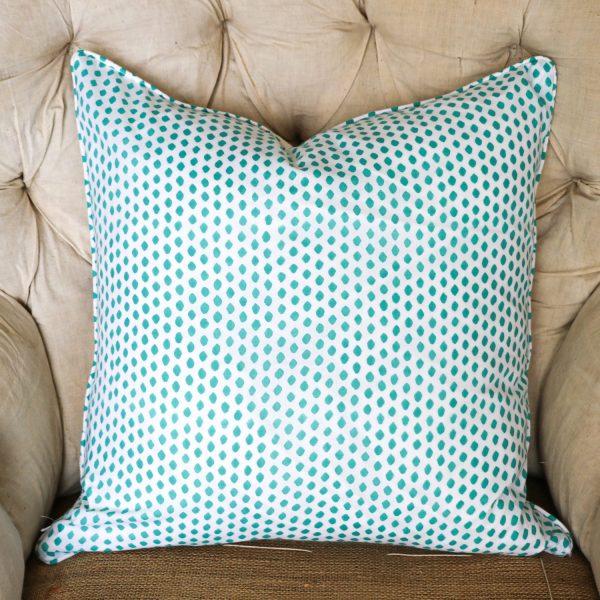 block print, shenouk, block print cushions, indian block print, English block print, cushion covers, teal