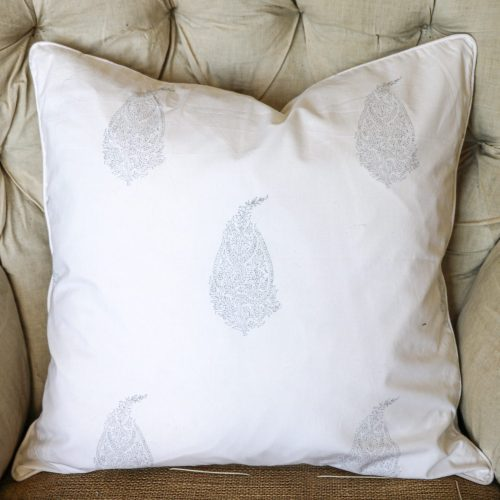 block print, shenouk, block print cushions, indian block print, English block print, cushion covers, paisley cushion covers