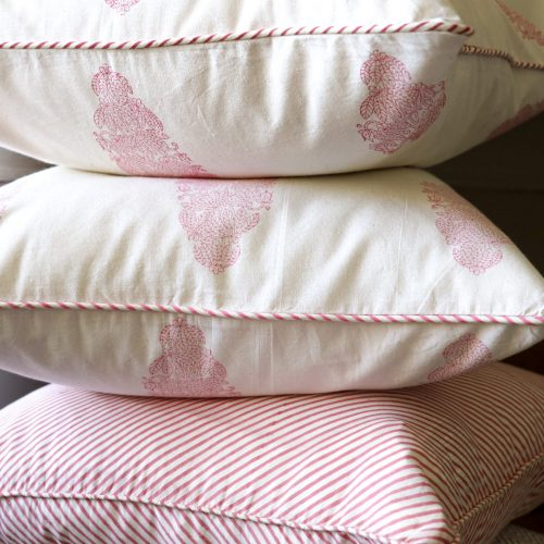 block print, shenouk, block print cushions, indian block print, English block print, cushion covers, banana tree