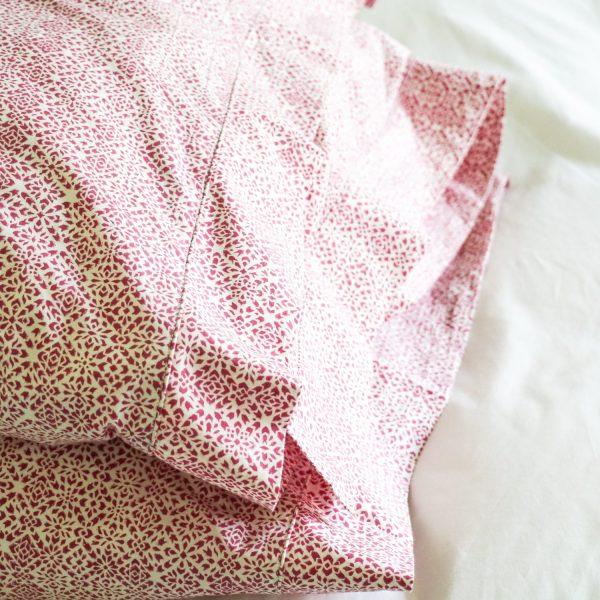 shenouk, block print, indian block print, English block print, online shopping block print, exclusive block print design, block print duvet covers, block print bedding, Kiki design, pink duvets