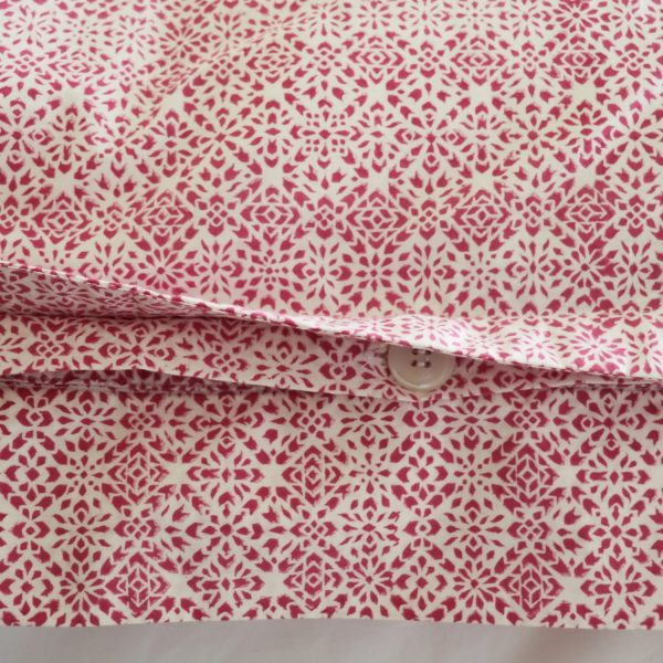shenouk, block print, indian block print, English block print, online shopping block print, exclusive block print design, block print duvet covers, block print bedding, Kiki design, pink duvets