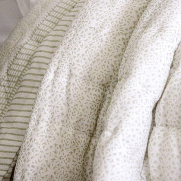 shenouk, block print, English interiors, country home interiors, English home fabrics, indian block print, English block print, online shopping block print, exclusive block print design, block print quilts, block print bedding, reversible bed quilts