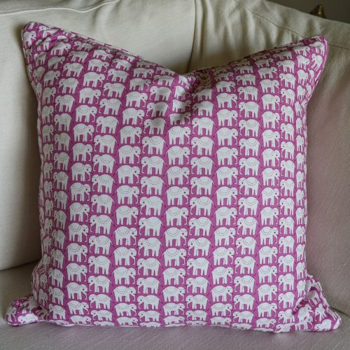 cushion covers, elephants, Indian block print, shenouk, online shopping block print, cushion covers, English interiors, elephant cushions