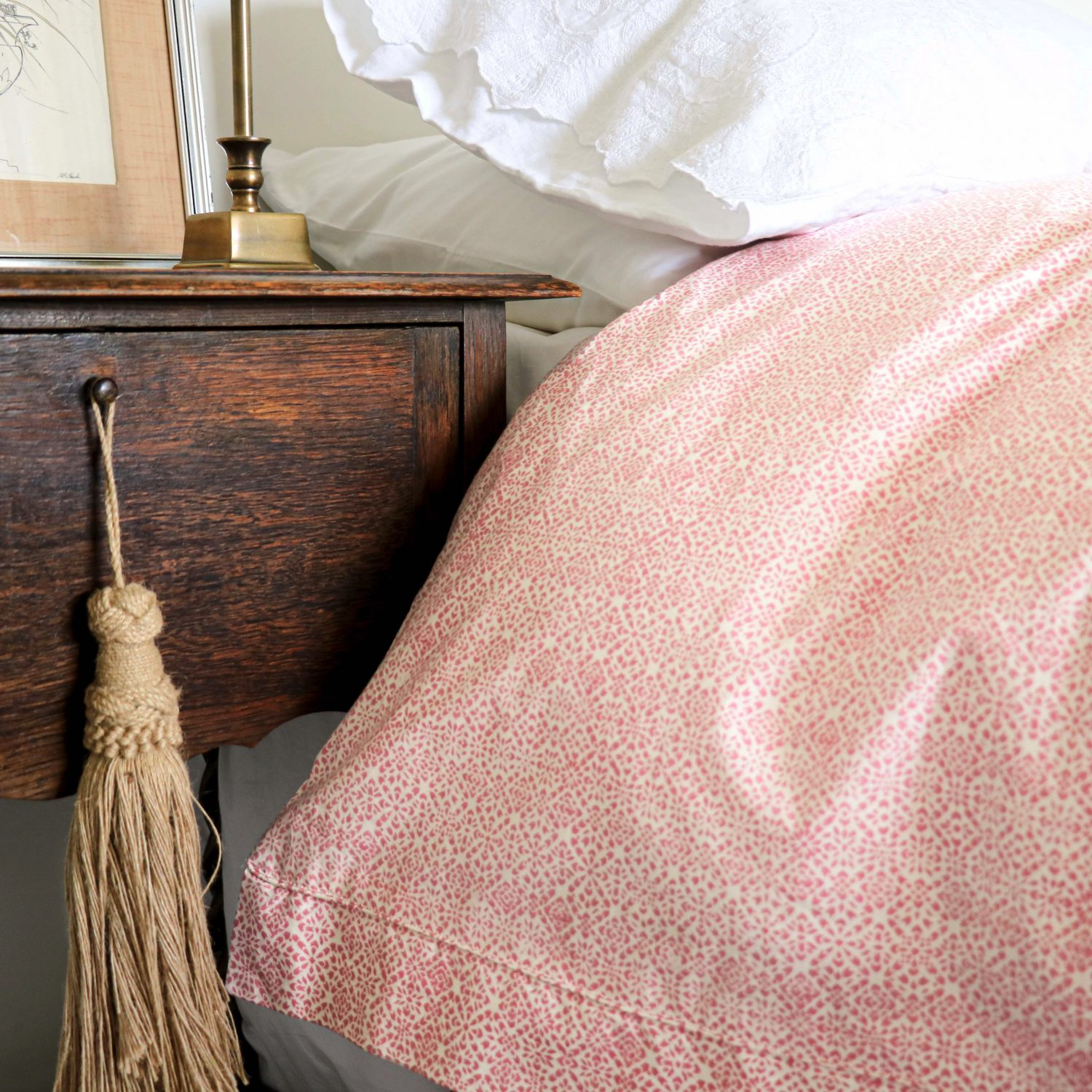 Kiki Duvet Cover In Dusty Rose Shenouk