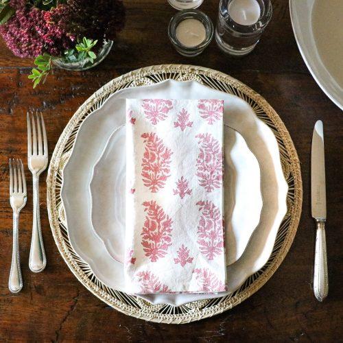 shenouk, napkins, block print napkins, cotton napkins, uk shopping napkins, online shopping napkins, block print, indian block print, luxury table linen, table linen, handmade, hand printed napkins