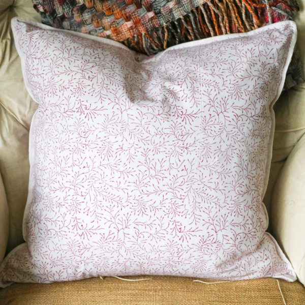 cushion cover, cushion covers, Indian textiles, home furnishings, block print, indian textiles, shenouk